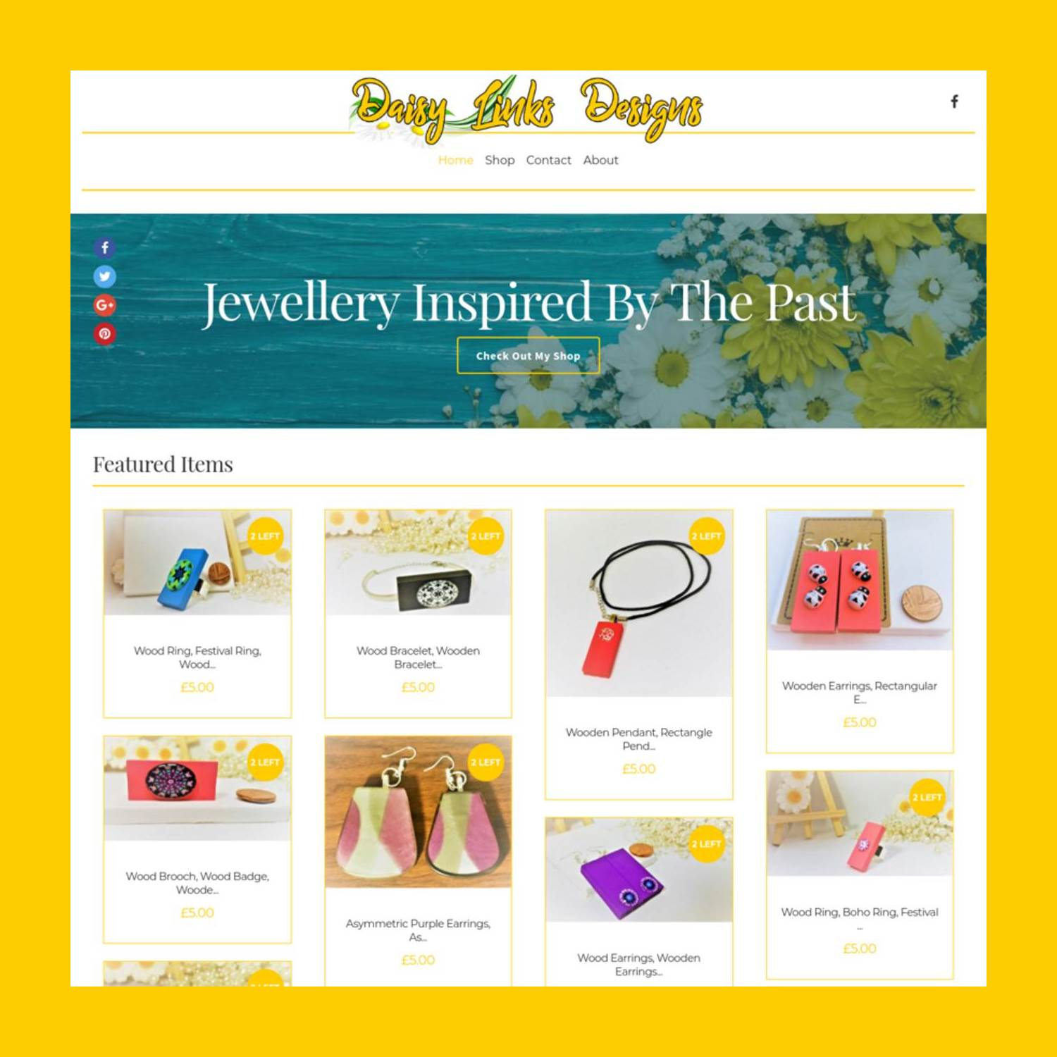Daisy Links Designs Website